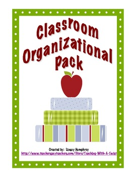 Classroom Organizational Pack (English)