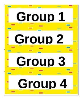 Classroom Organizational Signs