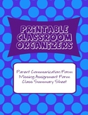 Classroom Organizers - Parent Communication, Missed Assign