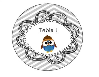 Classroom Organization Labels (Owl Theme) Editable Name Tags/Labels