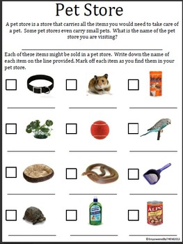 Classroom Community Outing Worksheets