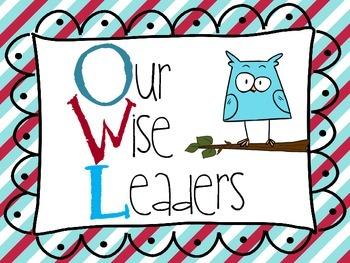 Classroom Owl Job Chart