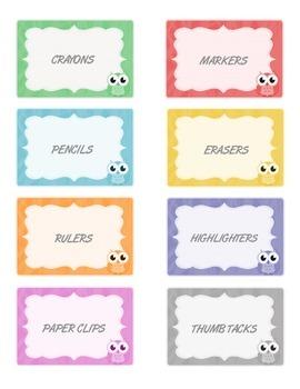 Classroom Owl Labels *Editable*