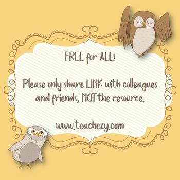 Classroom Owl Posters Freebie