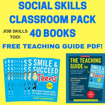 Social Skills Activities-Classroom Pack-40 Books. For Special Education Too