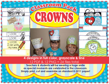 Classroom Pack Crowns