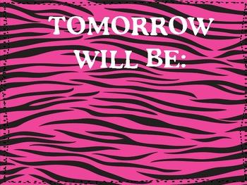 Classroom Pack- Zebra Theme