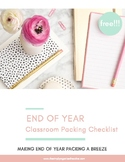 Classroom Packing Checklist