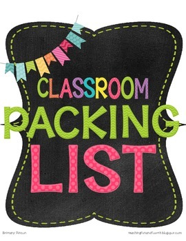 Classroom Packing List {With Box Labels}