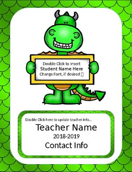 Classroom Paperwork: Dragon Theme *Editable*