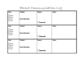 Classroom Parent Communication Log