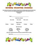 Classroom Parent Volunteer Scheduling Flyer