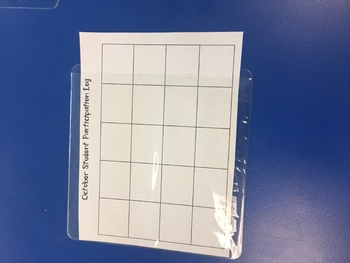 Classroom Partipication Log