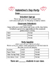 Classroom Party Sign-Up Sheets