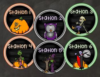 Classroom Party Templates Forms and Stations EDITABLE Halloween Christmas MORE!
