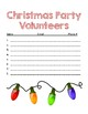 Classroom Party Volunteer Forms