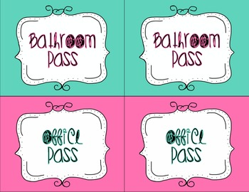 Classroom Pass Pack