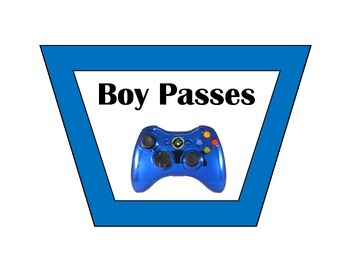 Classroom Pass Set - Gaming - Multi Color Borders