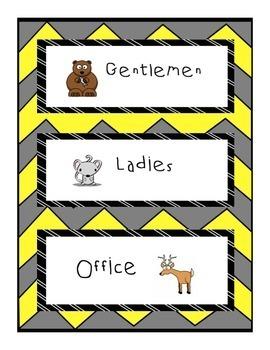 Classroom Passes: Animal Themed