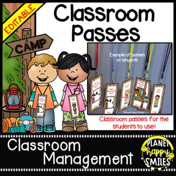 Classroom Passes ~ Camping Theme