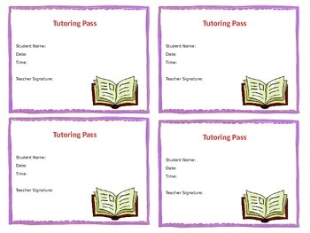 Classroom Passes - Customizable and Printable