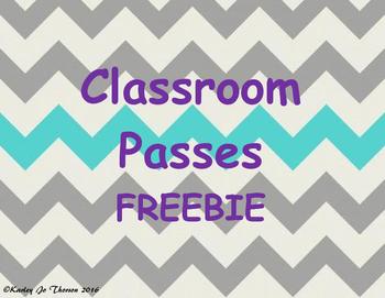Classroom Passes Freebie