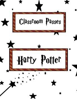 Classroom Passes: Harry Potter Theme