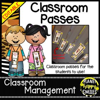 Classroom Passes ~ Jungle/Safari Theme