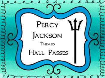 Classroom Passes: Percy Jackson Theme