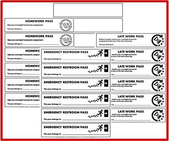 school hall pass template