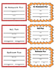 Classroom Passes Set - Apples and Orange Wave
