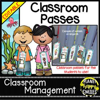 "Classroom Passes ~ ""Under the Sea"" Ocean Theme"