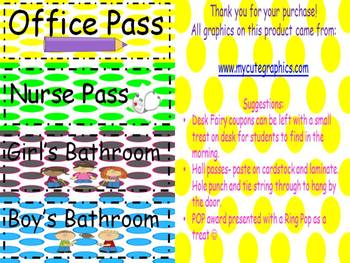 Classroom Passes and Certificates