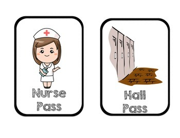 Classroom Passes for multiple areas