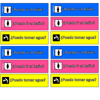 Classroom Passes in Spanish