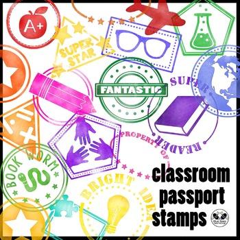 Classroom Passport Stamps Clip Art