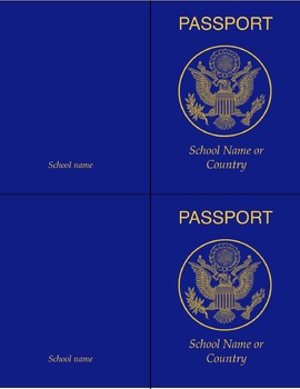 Classroom Passport Template FLEX  Free Passport Template For Kids