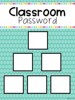 Classroom Password: First Grade Edition