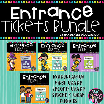 Entrance Tickets and Classroom Passwords Bundle