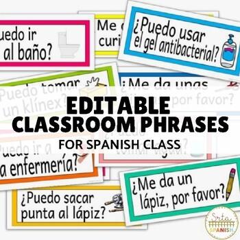 "Classroom ""Passwords"" in Spanish- editable!"