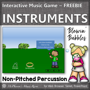 Non-Pitched Percussion {Interactive Music Game} FREEBIE