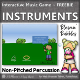 Spring Music: Non-Pitched Percussion Interactive Music Game FREEBIE {bubbles}