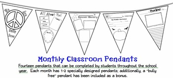 Classroom Pendants- Monthly Writing Assignments- greatComm