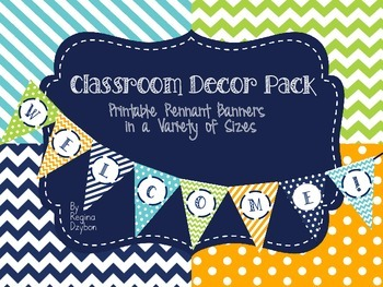 Classroom Decor Pack in Brights