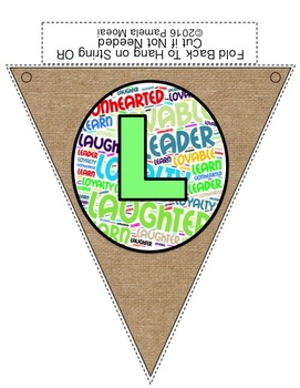Alphabet Classroom Pennants (Burlap and Word Clouds)