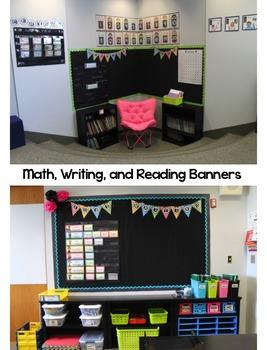 Classroom Pennants- Bright Polka Dot