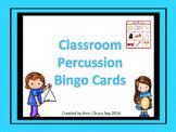 Classroom Percussion Instrument Bingo