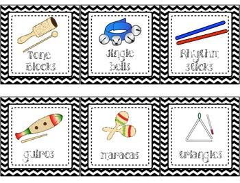 Classroom Percussion Instrument Labels