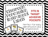 Classroom Percussion Instrument Labels