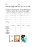 Classroom Perimeter, Area, and Volume